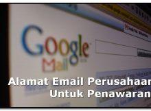 Alamat Email Perusahaan Untuk Penawaran