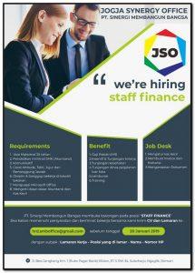lowongan kerja staff finance jso