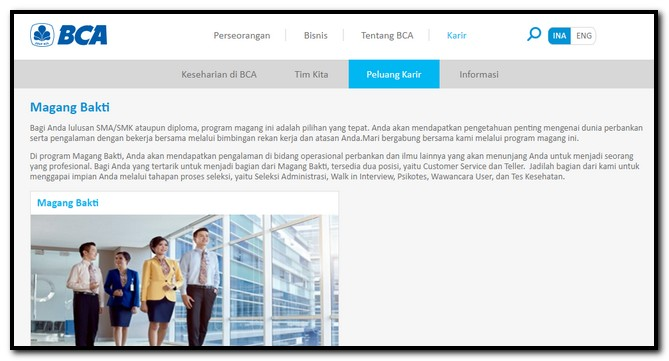 tes magang bakti bank bca
