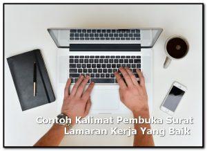 Kalimat Pembuka Surat Lamaran Kerja