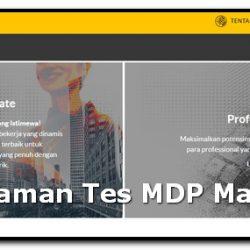 Pengalaman Tes MDP Maybank