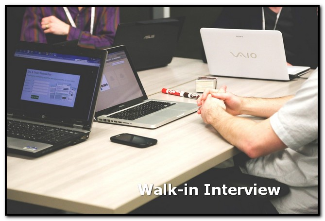 walk in interview adalah