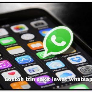 contoh izin sakit lewat whatsapp