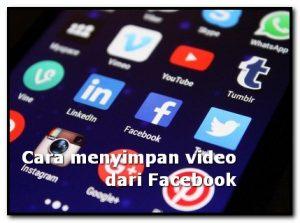 cara menyimpan video facebook ke galeri