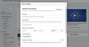 cara pasang lowongan kerja di facebook