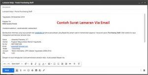 contoh lamaran kerja via email pdf sebagai lampirannya