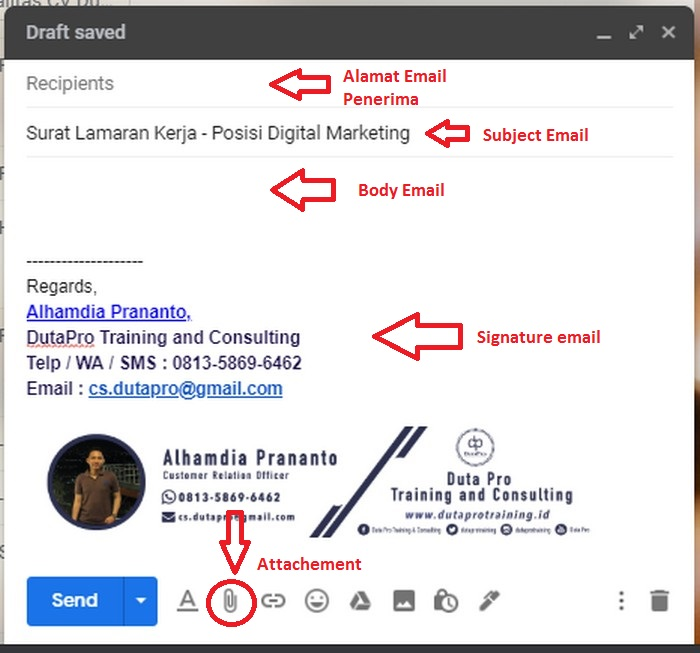 31 Template Contoh Lamaran Kerja Via Email Pdf Tips Kerja