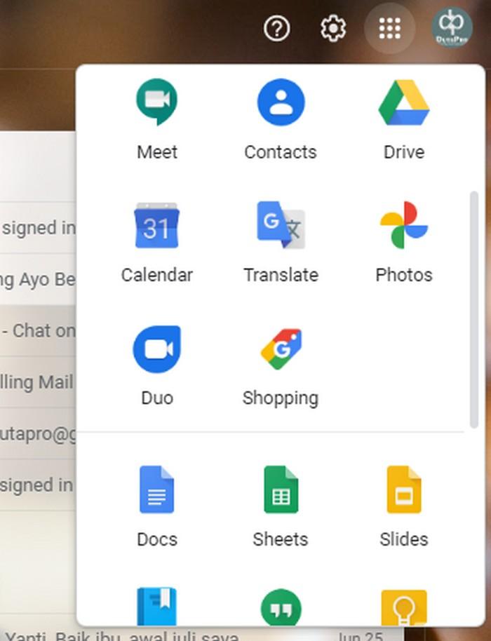 menemukan letak google dokumen di gmail