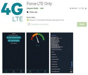 aplikasi force Lte only untuk grabbike dan gojek