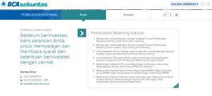 syarat pembukaan rekening baru bca sekuritas online