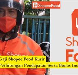 gaji shopee food kurir