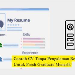 Contoh CV Fresh Graduate Menarik Dan Cara Membuatnya
