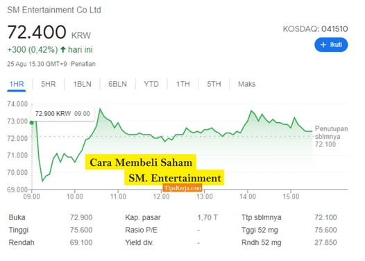 cara membeli saham sm entertainment