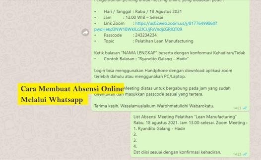 cara membuat absensi online di whatsapp