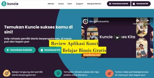 aplikasi kuncie belajar bisnis gratis